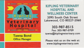kipling veterinary hospital
